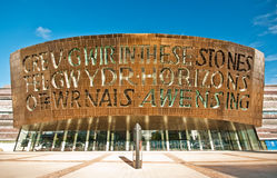 Cardiff Millenium Centre. Is one of the world's iconic arts and cultural destinations Royalty Free Stock Photography