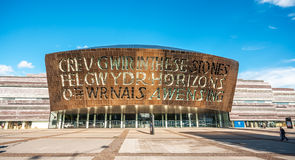 Cardiff Millennium Centre in Cardiff Bay, Cardiff, Wales Royalty Free Stock Photo