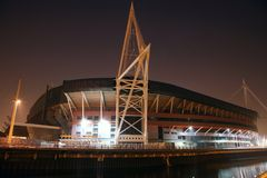 Cardiff  Millennium Stadium. Outside view of the Millennium Stadium in Cardiff Royalty Free Stock Image