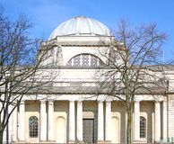 Cardiff museum. Against a clear blue sky with bare trees in the for-ground Stock Photography
