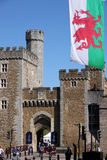 Cardiff old town wall. Entrance to the old town in Cardiff, Wales Royalty Free Stock Photo