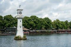 CARDIFF, PAÍS DE GALES - 10 DE JULIO: Faro en commemoratin del parque de Roath Foto de archivo libre de regalías