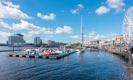 Cardiff schronienia festiwal Walijski Uroczysty morze Prix & P1 Fotografia Royalty Free