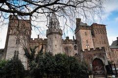 Cardiff slott Arkivbild