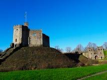 Cardiff slott, inom av den historiska platsen för slott Arkivbilder