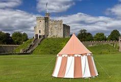 Cardiff slott, Wales, UK Arkivbild