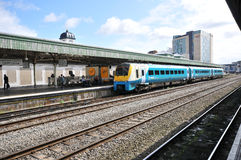 Cardiff train station. In wales and unıted kingdom Stock Image