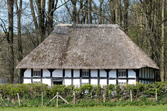 CARDIFF/UK - APRIL 19 : Abernodwydd Farmhouse at St Fagans Natio Stock Photography