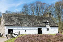 CARDIFF/UK - APRIL 19 : Cilewent Farmhouse at St Fagans National Stock Photos