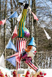 CARDIFF/UK - 19 APRIL: Clownledenpop bij een funfair in Cardiff stock fotografie