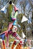 CARDIFF/UK - 19. APRIL: Clownmannequin an einem Funfair in Cardiff Stockbilder