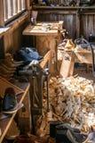CARDIFF/UK - 19 APRIL: De Workshop van de zadelmaker bij St Nationale Fagans royalty-vrije stock foto's
