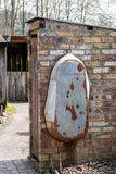 CARDIFF/UK - 19 APRIL: Oud tinbad bij St Fagans Nationale Histo royalty-vrije stock afbeeldingen