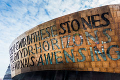 CARDIFF/UK - AUGUST 27 : Millennium Centre in Cardiff on August Stock Photography