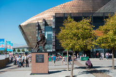 CARDIFF/UK - AUGUST 27 : Millennium Centre in Cardiff on August Royalty Free Stock Photography