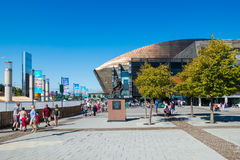 CARDIFF/UK - AUGUST 27 : Millennium Centre in Cardiff on August Stock Photo