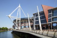 Principality Stadium Cardiff. Cardiff, UK: May 24, 2016: The Principality Stadium was formerly known as the Millennium Stadium but changed its name in 2016 for Royalty Free Stock Photography