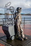 CARDIFF WALES DECEMBER 2013 - Pit to Port Coal Miner Sculpture C Royalty Free Stock Images