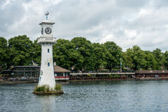 CARDIFF, WALES - JULY 10 : Lighthouse in Roath Park commemoratin Royalty Free Stock Photo