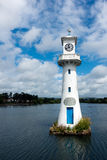 CARDIFF, WALES - JULY 10 : Lighthouse in Roath Park commemoratin Stock Images