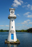 CARDIFF, WALES - JUNE 8 : Lighthouse in Roath Park commemorating Royalty Free Stock Image