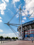 CARDIFF, WALES - JUNE 8 : The Millennium Stadium at Cardiff Arms Royalty Free Stock Photos