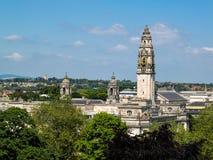 CARDIFF, WALES - JUNI 8: Het Stadhuis van Cardiff in Cardiff op 8 Juni royalty-vrije stock foto