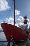 CARDIFF, WALES - 23. MÄRZ: Teilweise Ansicht von Feuerschiff 2000 in Ca Stockfoto