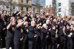 CARDIFF, WALES - MAART 23: Op 23 Maart, 2014 in Cardiff Roc Stock Fotografie