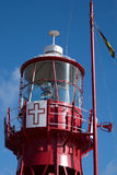 CARDIFF, WALES - MARCH 23 : Partial view of Lightship 2000 tower Royalty Free Stock Images