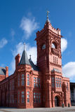 CARDIFF, WALES - MARCH 23 : View of the Pierhead Building in Car Royalty Free Stock Photo