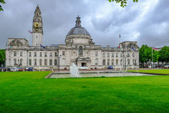 Cardiff, Wales - May 20, 2017: Cardiff City Hall Stock Photography