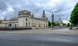 Cardiff, Wales - May 20, 2017:  Law Courts in central Cardiff Stock Photo
