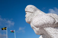 CARDIFF, WALES - 23. MÄRZ: Ansicht Scott Antarctic Memorials Stockbild