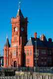 CARDIFF, WALES/UK - 26. DEZEMBER: Pierhead, das Cardiff-Bucht errichtet Lizenzfreie Stockbilder
