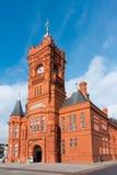 CARDIFF WALES/UK - NOVEMBER 16: Pierhead som bygger den Cardiff fjärden Arkivfoto