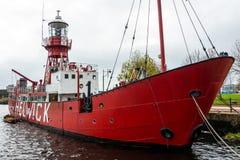 CARDIFF WALES/UK - NOVEMBER 16: Sikt av fyrskeppet 2000 i kort Fotografering för Bildbyråer