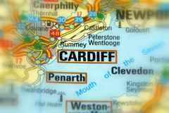 Cardiff, Wales, United Kingdom - Europe EU. Cardiff, the capital and largest city in Wales, United Kingdom stock images