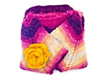 Cardigan with crocheted flowers Stock Photography