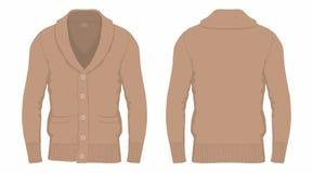 Cardigan di marrone del ` s degli uomini illustrazione vettoriale