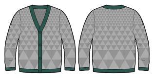 Cardigan tricoté par gris Images libres de droits