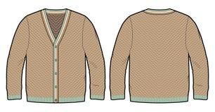 Cardigan tricottato illustrazione vettoriale
