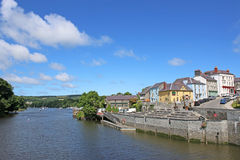 Cardigan, Wales. Cardigan town by the River Teifi Royalty Free Stock Image