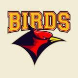Cardinal bird logo Royalty Free Stock Photography
