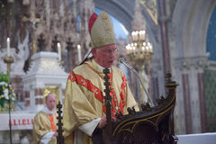 Cardinal Brady gives the homily at the Ordination at Maynooth on June 1st Stock Photography