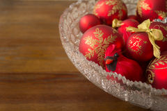 Cardinal Decoration and Decorative Christmas Balls, With Copy Sp Royalty Free Stock Image