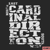 Cardinal direction vintage stamp Stock Photos