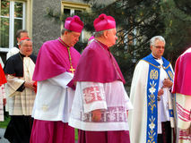 Cardinal Dominik Duka primate of the Czech Republic, Dominican a Stock Photos