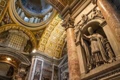 Cardinal Sculpture Saint Peter Basilica - Vatican Stock Photo