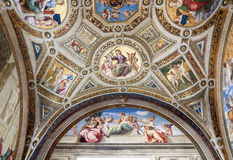 Cardinal and Theological Virtues Royalty Free Stock Photos